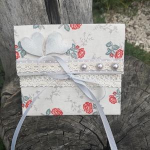 Romantikus boríték esküvőre, ballagásra, ünnepi alkalmakra. :-), Esküvő, Nászajándék, Egyedi boríték készült egy szép ünnepre. Kérésedre feliratozom, ez esetben az ár némileg módosul. :-..., Meska