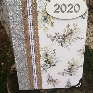 Elegáns 2020-as határidőnapló. :-), Otthon & lakás, Naptár, képeslap, album, Naptár, Decoupage, transzfer és szalvétatechnika, Festett tárgyak, Visszafogott, szolid, elegáns határidőnapló. :-) Napi beosztású 2020-as határidőnapló, melyre egyedi..., Meska