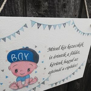 Babás-ajtódísz az előszobába.   :-)  - Meska.hu