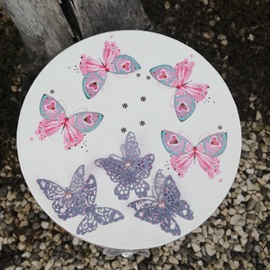 3D-Pillangós, csipkés díszdoboz. :-) - Meska.hu