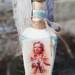 Star Wars - fotó-transzferált és feliratozott italos üveg. :-) - Meska.hu