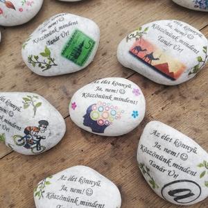 Feliratos kő, személyes motívumokkal, transzferálva. :-), Otthon & lakás, Esküvő, Gyerek & játék, Dekoráció, Nászajándék, Kedves kövek mintával és felirattal, ahogyan Te szeretnéd. :-)  Enyhén nedves ruhával tisztítható. :..., Meska