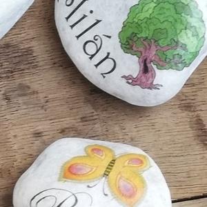 Ovis ballagásra, feliratos kő, személyes motívumokkal. :-) (Regikislany) - Meska.hu