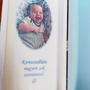 Egyedi fotós és feliratos díszdoboz, keresztelőre vagy bármilyen ünnepi alkalomra. - RENDELHETŐ - Meska.hu