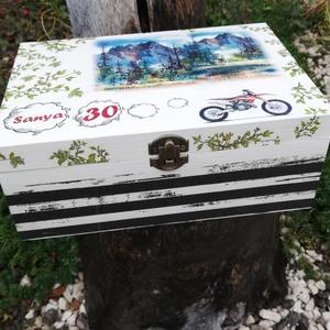 Motorosnak készült, egyedi fotós és feliratos teás doboz. - RENDELHETŐ - Meska.hu