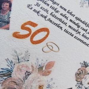 Falióra 50. házassági évfordulóra, egyedi fotóval, felirattal:-) - Meska.hu
