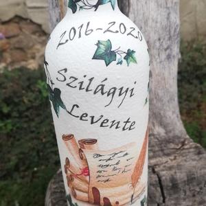 Transzferált italos üveg, névvel, ballagásra. :-) - Meska.hu