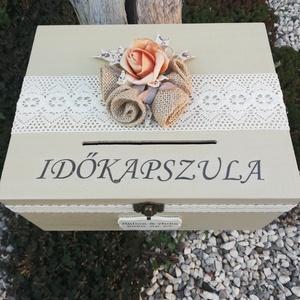 IDŐKAPSZULA-Minőségi, nagyméretű, feliratozott esküvői pénzgyűjtő persely. :-) - Meska.hu