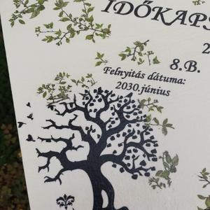 IDŐKAPSZULA-Minőségi, nagyméretű, lezárható,feliratozott fadoboz lakattal, ballagásra. :-) - Meska.hu