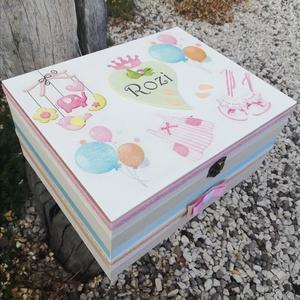 Minőségi, egyterű babaváró doboz, transzfer-technikával. :-) - otthon & lakás - dekoráció - díszdoboz - Meska.hu
