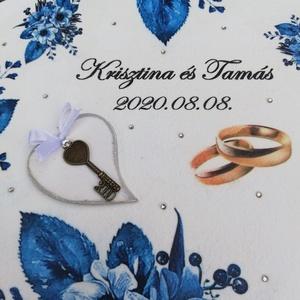 Esküvői díszdoboz, karikagyűrű párral. :-) - RENDELHETŐ - Meska.hu