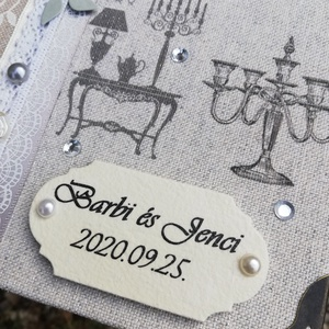 Egyedi mintás vendégkönyv esküvőre.   :-) - Meska.hu