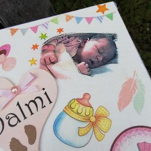 Minőségi, egyterű babaváró doboz a baba fotójával. :-), Otthon & Lakás, Dekoráció, Díszdoboz, Decoupage, transzfer és szalvétatechnika, Festett tárgyak, Minőségi, asztalosom által készített, erős fadoboz.  Nagyméretű fa doboz, mely egyedi ajándék lehet ..., Meska