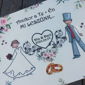 Nászpár figurák. - 12 rekeszes ajándékátadó doboz esküvőre. :-)  - Meska.hu