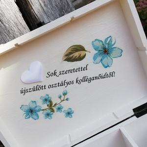 6 rekeszes díszdoboz, nászpárral, esküvőre.:-) - RENDELHETŐ - Meska.hu