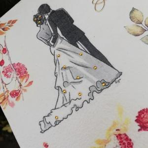 Ajándékdoboz esküvőre őszi színekkel. :-) - Meska.hu