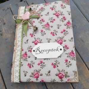 Pufi receptes könyv, vintage stílusban.  :-) - Meska.hu