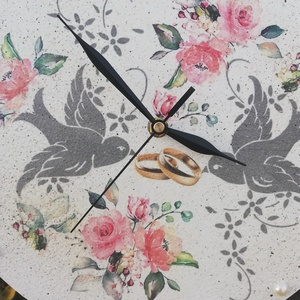 Falióra esküvőre, madarakkal és karikagyűrű párral :-) - Meska.hu