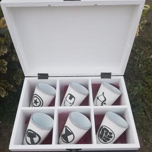 Bosszúállók-6 db-os pohár és díszdoboz szett. :-) - Meska.hu