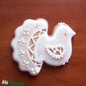 Mézeskalács madár - köszönetajándék, Karácsony & Mikulás, Karácsonyi dekoráció, Mézeskalácssütés, Apró mézeskalács madár a lakodalmi vendég számára, mely egy kedves gesztus a jegyespár részéről.\r\n\r\n..., Meska