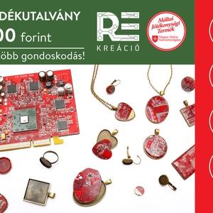 REkreácó - újrahasznosított számítógép alaplap Ajándékutalvány 3500Ft, Ékszer, Mandzsettagomb & Nyakkendőtű, Ha ajándékot keresel, megtetszettek a termékeink, de nem tudsz választani közülük- megoldásként vegy..., Meska