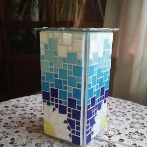 Margarétás üvegmozaik lámpa (REMuhely) - Meska.hu