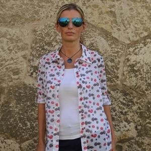 Női ing  - Raspberry (málna) (Rencissa) - Meska.hu