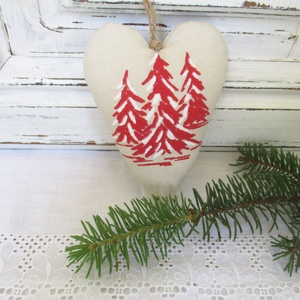 AKCIÓ!!! - 30 %   Karácsonyi dekorációs szív - Meska.hu