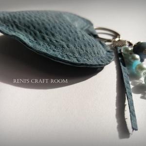 Bőr kulcstartó szív (Reniscraftroom) - Meska.hu