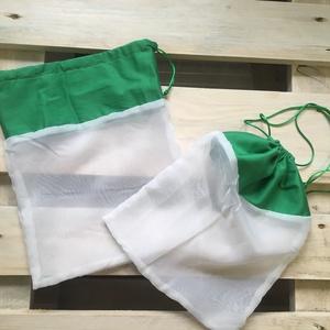 Szityi-Szatyi Réthy hálós újrahasználható bevásárló zsák, Kicsi méretben, Táska, Táska, Divat & Szépség, NoWaste, Bevásárló zsákok, zacskók , Varrás, Újrahasznosított alapanyagból készült termékek, Meguntam a nejlon szatyros bevásárlás és a környezet szennyezését. Ezért kitaláltam az újrahasználha..., Meska