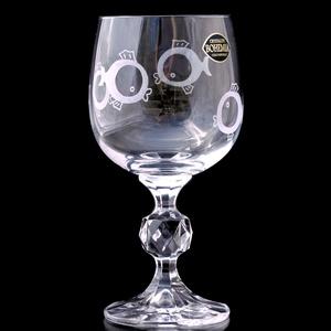 Halacska borospohár, Díszüveg, Dekoráció, Otthon & Lakás, Gravírozás, pirográfia, Kézi gravírozott bohémia kristály pohár halas motívummal.\n\nSzín: áttetsző\nŰrtartalom: 150/190 ml\n..., Meska