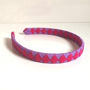 Cikk-cakkos hajpánt (lila-pink) (RibbonLove) - Meska.hu