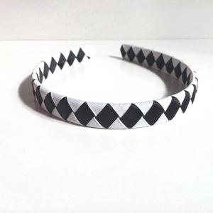Cikk-cakkos hajpánt (fekete-fehér) (RibbonLove) - Meska.hu