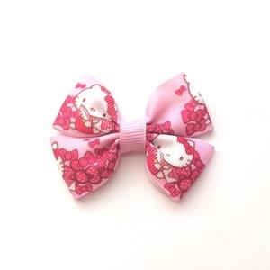 Rózsaszín Hello Kitty dupla masnis hajcsat , Táska, Divat & Szépség, Hajbavaló, Ruha, divat, Hajcsat, Varrás, Ékszerkészítés, Ezt a rózsaszín Hello Kitty-s masnit szalagból készítettem,  4,5 cm-es aligátor hajcsatra helyeztem ..., Meska