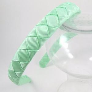 Cikk-cakkos hajpánt menta (zöld) (RibbonLove) - Meska.hu