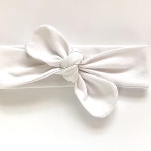 Fehér rugalmas pamut fejpánt / hajpánt, Gyerek & játék, Táska, Divat & Szépség, Hajbavaló, Ruha, divat, Hajpánt, Varrás, Ékszerkészítés, Szuper aranyos divatos kiegészítő ez a pamut fejpánt!\n\nNagyon jó minőségű pamut anyagból készült, am..., Meska