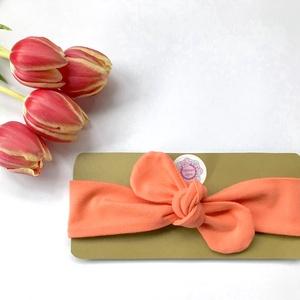 Korall színű (narancs) rugalmas pamut fejpánt / hajpánt, Hajráf & Hajpánt, Hajdísz & Hajcsat, Ruha & Divat, Varrás, Ékszerkészítés, Szuper aranyos divatos kiegészítő ez a pamut fejpánt!\n\nNagyon jó minőségű pamut anyagból készült, am..., Meska