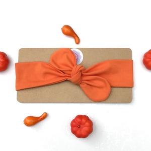 Narancssárga színű rugalmas pamut fejpánt / hajpánt, Hajráf & Hajpánt, Hajdísz & Hajcsat, Ruha & Divat, Varrás, Ékszerkészítés, Szuper aranyos divatos kiegészítő ez a pamut fejpánt!\n\nNagyon jó minőségű pamut anyagból készült, am..., Meska