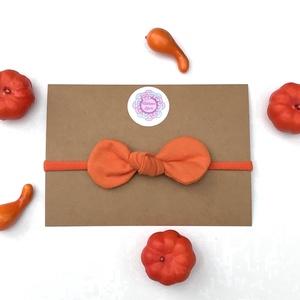 Narancssárga színű pamut masni puha rugalmas fejpánt, hajpánt, Táska, Divat & Szépség, Ruha, divat, Hajbavaló, Hajpánt, Varrás, Ékszerkészítés, Halloweenra vagy hétköznapokra tökéletes választás ez a narancssárga masnis fejpánt, hajpánt!\n\nA mas..., Meska
