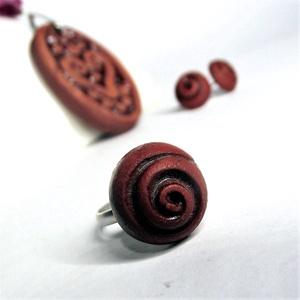 Illatosítható spirál mintás aromagyűrű kerámiából - Meska.hu