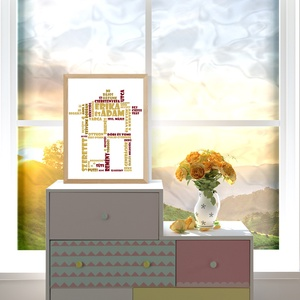 """Az Én Otthonom, Kép & Falikép, Dekoráció, Otthon & Lakás, Fotó, grafika, rajz, illusztráció, \""""AZ ÉN OTTHONOM\""""\nHázavató ajándék, vagy a saját otthonunk dísze.\nMire van szükség a kép elkészüléséh..., Meska"""