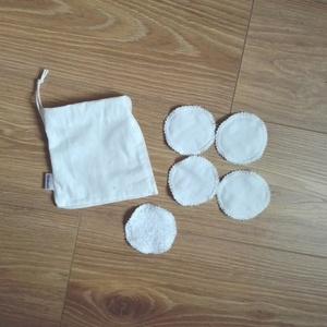 Mosható arctisztító korong, kozmetikai korong- 5 db fehér  (ritakreativ) - Meska.hu