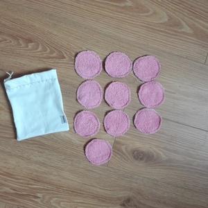 Mosható arctisztító korong, kozmetikai korong- mintásak/ rózsaszín 10 db  (ritakreativ) - Meska.hu