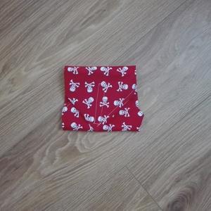 Örökszalvéta, mosható textílszalvéta- kutyus mintás- piros halálfejes mintás (ritakreativ) - Meska.hu