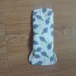 Mosható tisztasági betét- fehér alapon levendula csokros (ritakreativ) - Meska.hu