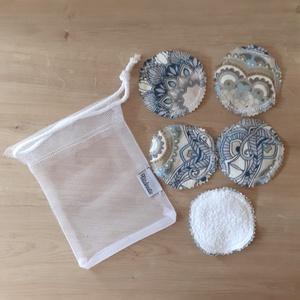 Arctisztító korong, mosható kozmetikai korong párna - szett (5 db), mandala (ritakreativ) - Meska.hu