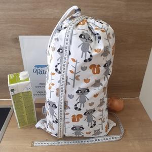 Kenyeres zsák vízhatlan - nagy, mosómedve - frissentató, NoWaste, Bevásárló zsákok, zacskók , Otthon & lakás, Konyhafelszerelés, Varrás, Helyettesíti az eldobható műanyag zacskókat, pékárus zacskókat. Ha nem szeretnél mindig egyszer hasz..., Meska