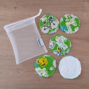 Arctisztító korong szett (5 db) ajándék mosózsákkal, go green, bicikli - sminklemosó, arclemosó, kozmetikai párna, Szépségápolás, Arctisztító korong, Arcápolás, Az 5db korong mellé a képen láthatóhoz hasonló tüll mosózsák bónusz ajándék!  Az eldobható vattakoro..., Meska