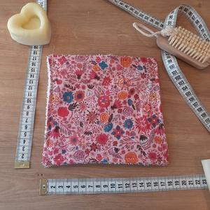 Konyhai törlőkendő kicsi - rózsaszín virágos - baba popsitörlő, mosdókendő, sminklemosó, Otthon & Lakás, Konyhafelszerelés, Konyharuha & Törlőkendő, Varrás, Az eldobható háztartási és egészségügyi törlőkendők környezetbarát, újrahasználható, mosható alterna..., Meska