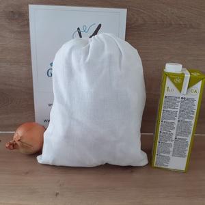 Piaci bevásárlózsák - bevásárló szatyor, vászon zsák, öko zacskó, gyümölcsös, zöldséges, Táska & Tok, Bevásárlás & Shopper táska, Zöldség/Gyümölcs zsák, Szeretnéd csökkenteni a hulladékot amit termelsz? Itt a megoldás! Helyettesíti az eldobható műanyag ..., Meska